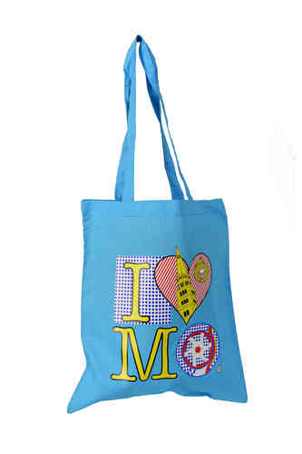 "Borsa Shopper ""I love Modena"" Azzurra"